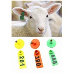 پلاک دو تکه در رنگهای متنوع  اعداد چاپ روی پلاستیک  نصب با پنس یا انبر مخصوص  دوام خوب  قیمت مربوط به یک بسته 100تایی